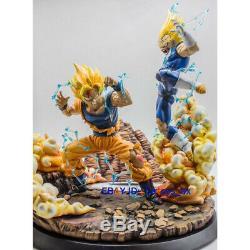 Dragon Ball Goku Vs Végéta Résine Modèle Figurine Statue Painted Figure Gk Toy