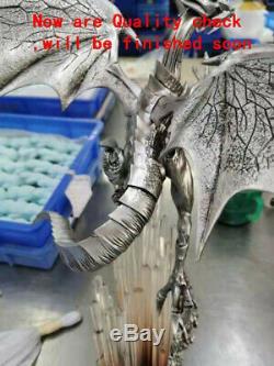 Duel Monsters Yeux Bleus Dragon Blanc Peint En Résine Statue Modèle Sculpture Figure
