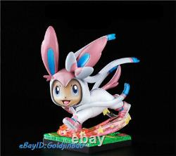 Eevee Family Resin Figure Vaporeon Sylveon Leafeon Model Painted Statue In Stock