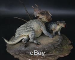 Einiosaurus Mère Et Fils Scène Statue Base De Dinosaur Modèle Figure Collector Décor