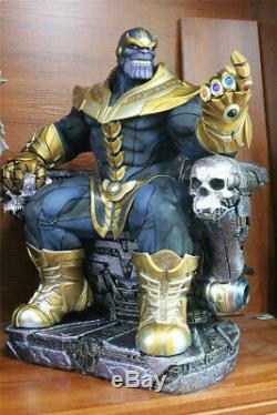 En Stock 1/4 Thanos Sur Statue Trône Résine Refonte Modèle Action Figure Collection