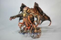 En Stock Cthulhu Painted Resin Gk Model 7'' Sculpture Statue Collection Figurine