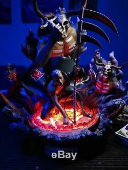 En Stock Naruto Akatsuki Hidan Modèle En Résine Statue Gk Avec Lumière Led Mort Figure