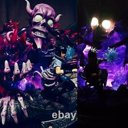 Étoiles Modèles Naruto Uchiha Sasuke Statue Led Light Painted Figure Model In Box Gk