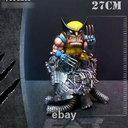 Fat Wolverine Statue 27cmh Modèle Painted En Stock Fat Studio De Résine Figure Hero