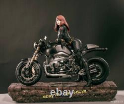 Fe Studios Agent Natasha Black Widow Motorcycle 1/4 Resin Model Statue Figures