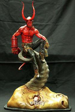 Hellboy Démon Argent Rouge Corne De Taureau Originale Figure Résine Modèle Unpainted Kit