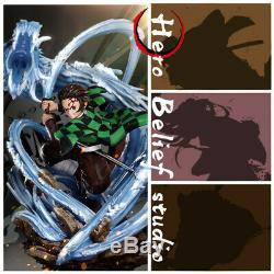 Hero Croyance Démon Slayer Kamado Tanjirou Figure Résine Modèle Painted Statue Nouveau