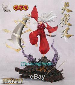 Inuyasha Résine Figure Modèle Peint Feu Phoenix Studio 41cmh Anime Échelle 1/7