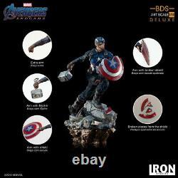 Iron Studios 1/10 Captain America Figure Avengers Endgame Marcas18319-10 Modèle