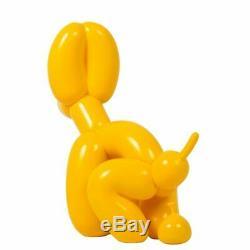 Jeff Koons Rose Jaune Balloon Dog Art Graphique Figurine Résine Modèles 239.522cm