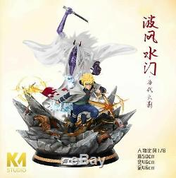 Km Studio Naruto Namikaze Minato Sikifuujin Figure Résine Modèle Painted Statue