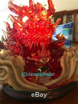 Ligue Naruto Gaï Maito Statue Résine Modèle Led Figure 32cm / 12.5''h Instock