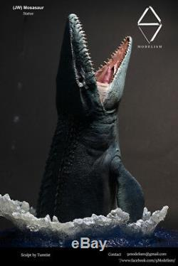Monde Jurassic Mosasaur Statue Dinosaur Modèle Figure Base De Collecteur