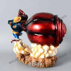Monkey D. Luffy Vitesse Fourt Statue One Piece Modèle Painted Figure Statue Gk Anime