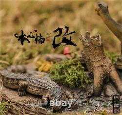 Nanmu 1/35 Scène Shunosaurus Famille Statue Dinosaur Figure Animale Jouet Collector