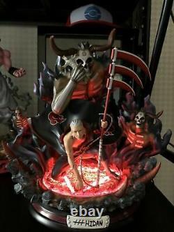 Naruto Akatsuki Hidan Model Resin Statue Gk With Led Light Anime Figure In Stock