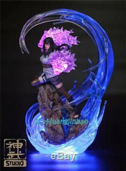 Naruto Hyga Hinata Résine Figure Led Lumière Statue Modèle Painted Anime Échelle 1/7