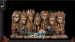 Naruto Rock Base Présentoir Figure Résine Modèle Painted Mh Studio D'origine Gk