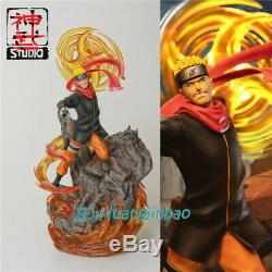 Naruto Shenwu Studio Uzumaki Naruto Résine Modèle Painted Led Lumière Statue Figure