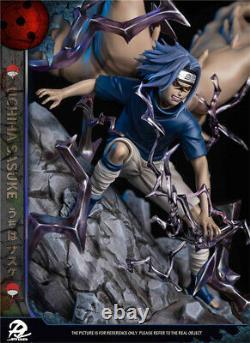 Naruto Uchiha Sasuke Statue Demon Forme Figure Résine Modèle Gk Dp9 Studio Nouveau