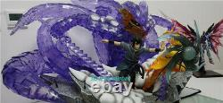 Naruto Uchiha Sasuke&uzumaki Naruto Résine Figure Modèle Neuf Queue En Anime Stock