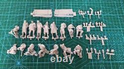 Non Peint 1/35 16pcs Allemand Soldats Remise Ww2 Résine Figurine Modèle Kit-pas De Voiture