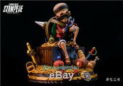 One Piece Stampede D Luffy Statue Singe Resine Figure Modèle En Stock Gk