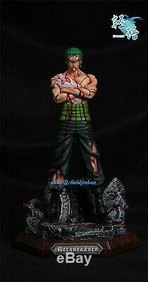 One Piece Zoro Roronoa Sang Ver. Résine Peinte Statue 1/6 Échelle 35cm Nouveau