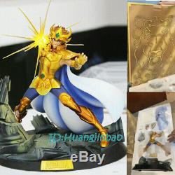Saint Seiya Aioria Figure Modèle Painted En Stock 1/6 Led Anime En Boîte Colorée