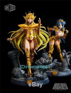 Saint Siya Shaka De La Vierge Résine Figure Femme Or Saint Modèle Painted Statue Gkbox