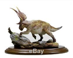 Scène Diabloceratops Statue Dinosaur Figure Modèle Animal Jouet Collectordecor Cadeau