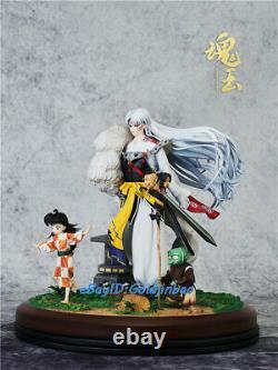 Sesshoumaru Figure Painted Resin Model 27cmh Rin Jaken Statue Pré-commande