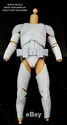 Star Wars 1/6 Armure __gvirt_np_nn_nnps<__ Blank Clone Trooper Kit Personnalisé Figure Sixième Modèle Échelle