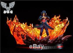 Sxg Naruto Uchiha Itachi Statue Figure Résine Gk Modèle Lumières Pré-commande