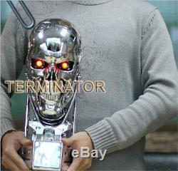 Terminator Salvation T800 1/1 Lifesize Crâne Figure Statue Jouet À Collectionner