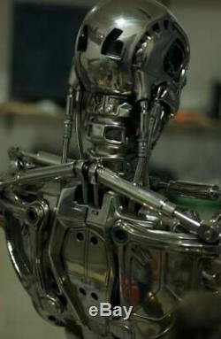 Terminator T2 T800 11 Life-size Bust Modèle Endoskeleton Chrome Figure Statue