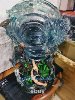 Top Studio Roronoa Zoro Statue Peint Modèle En Stock Une Pièce Figure Led Light