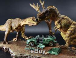 Tyrannosaurus Rex T Lutte Voiture Scène Dinosaur Modèle Figure Collector Décor Cadeau