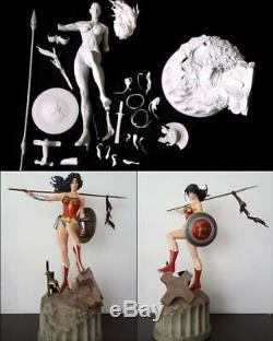 Wonder Woman Hobby Modèle En Résine Kit Unpainted Unassambled Figure 1/4 Cast Replica